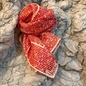 60s Vera Neumann Oblong Red & White Scarf